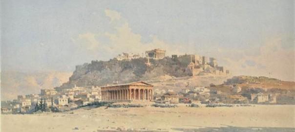 Το Θησείο και η Ακρόπολη (1895), Γιαλλινάς Άγγελος (1857-1937)