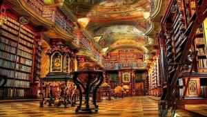H πιο όμορφη βιβλιοθήκη του κόσμου βρίσκεται στην Πράγα.