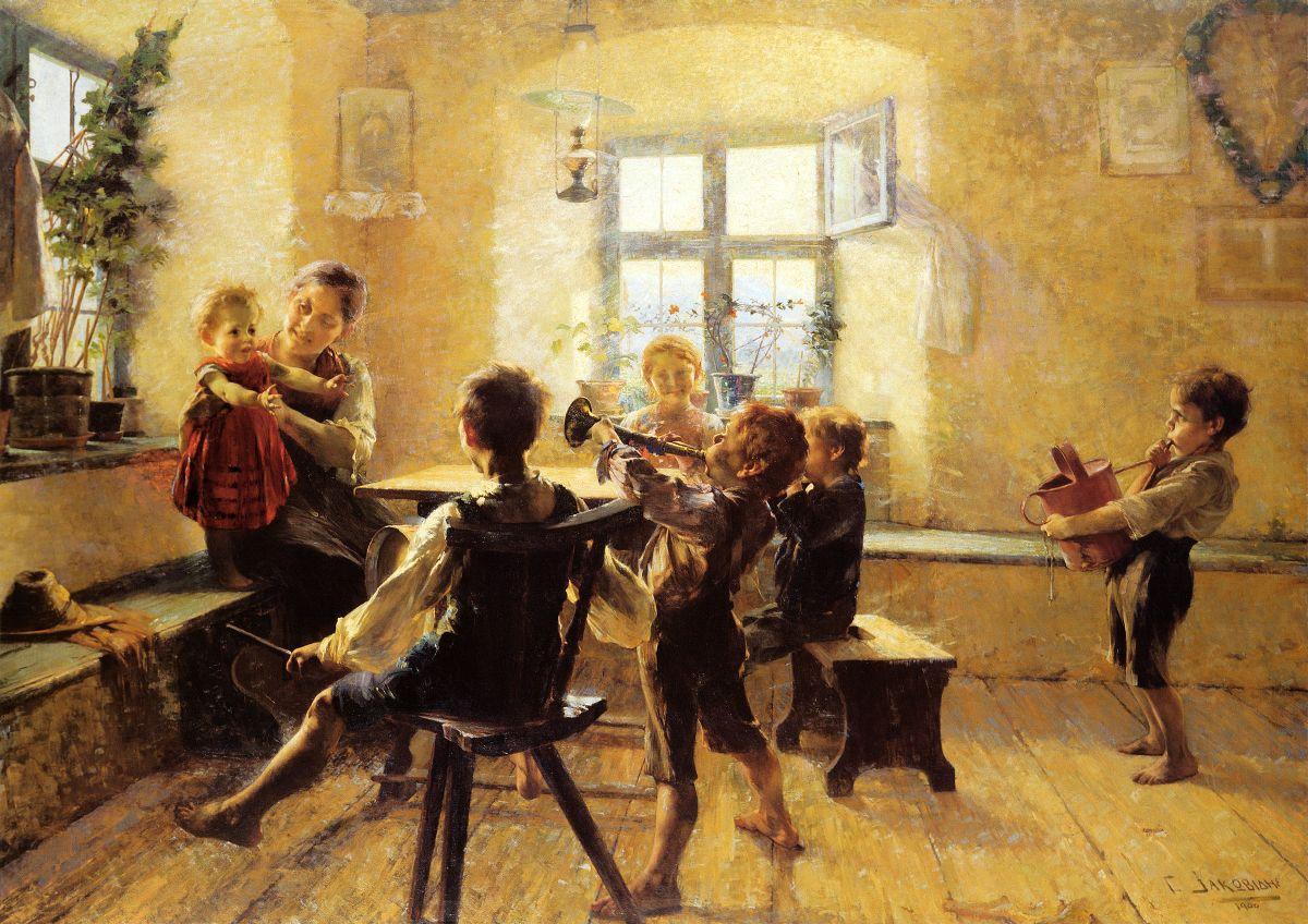 Παιδική Συναυλία, Γ.Ιακωβίδης, 1900, Ενθική Πινακοθήκη Αθηνών
