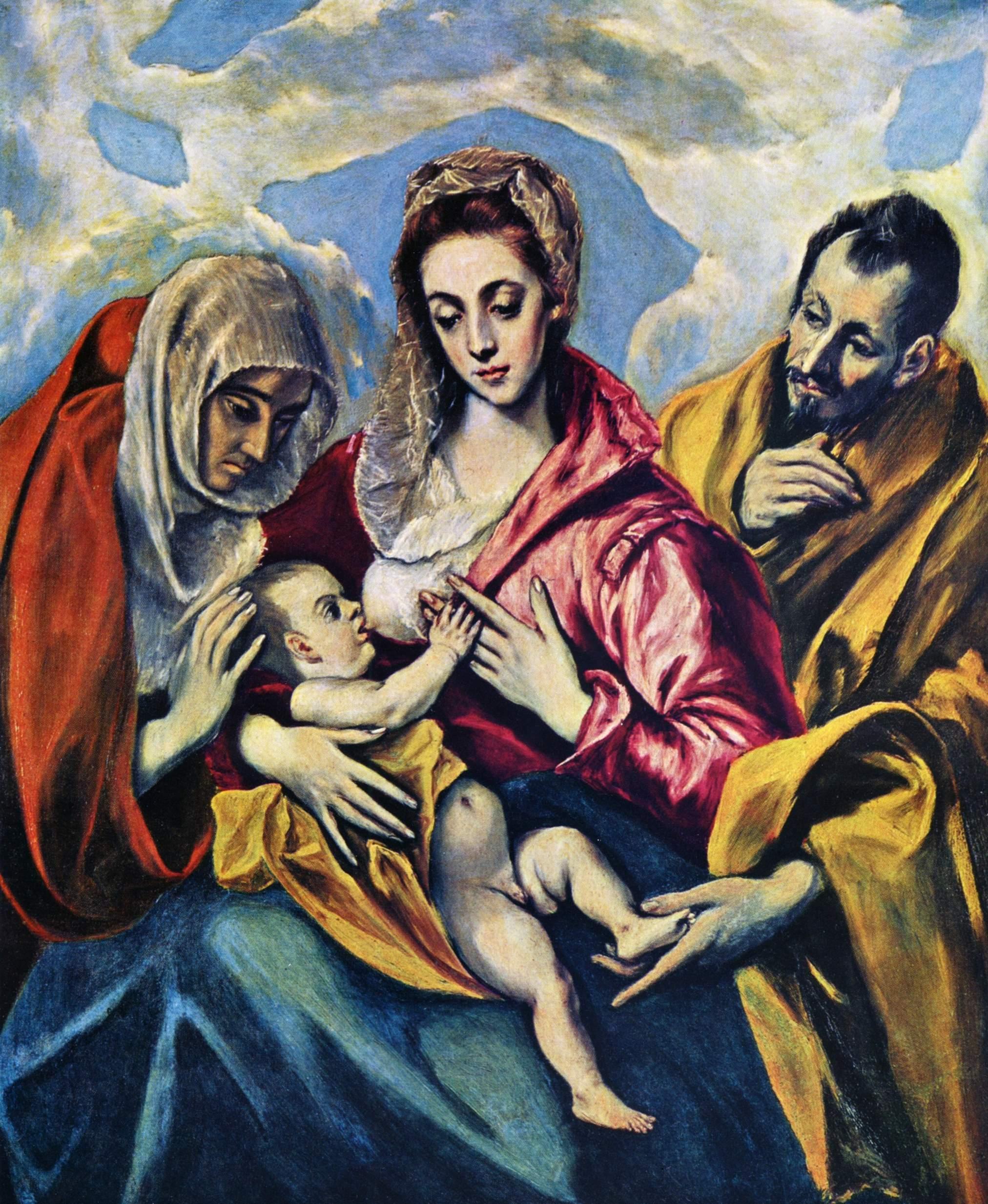 Η Αγία Οικογένεια με την Αγία Άννα, Ελ Γκρέκο περ.1590, Τολέδο