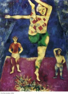 Marc Chagall, Οι τρεις ακροβάτες (1926)