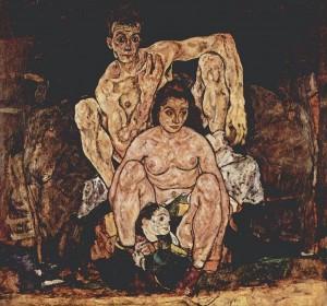 Egon Schiele, Η οικογένεια (1918)