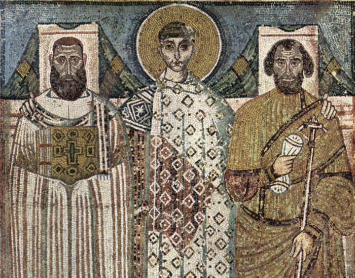 Ψηφιδωτό στον Άγιο Δημήτριο (7-8ος αιώνας)