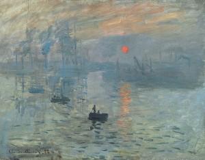 Claude Monet, Εντύπωση, Ανατολή ηλίου (1872)
