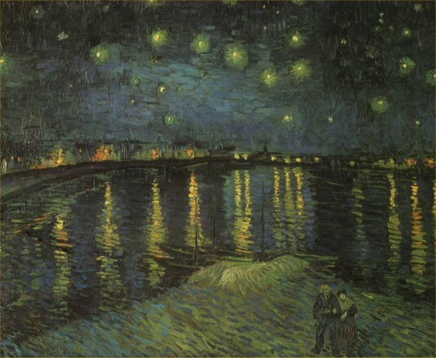 Vincent Van Gogh, Έναστρη νύχτα πάνω από τον Ροδανό (1888)