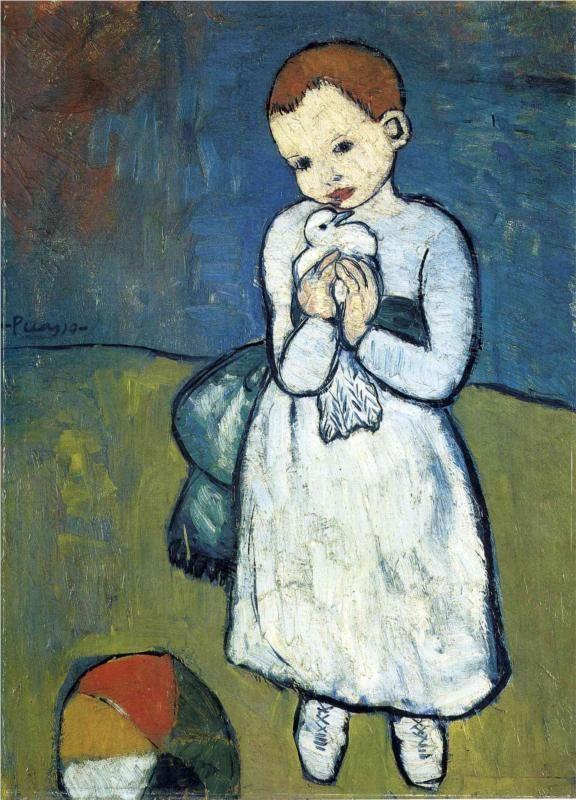 Pablo Picasso, Το παιδί με το περιστέρι (1901)