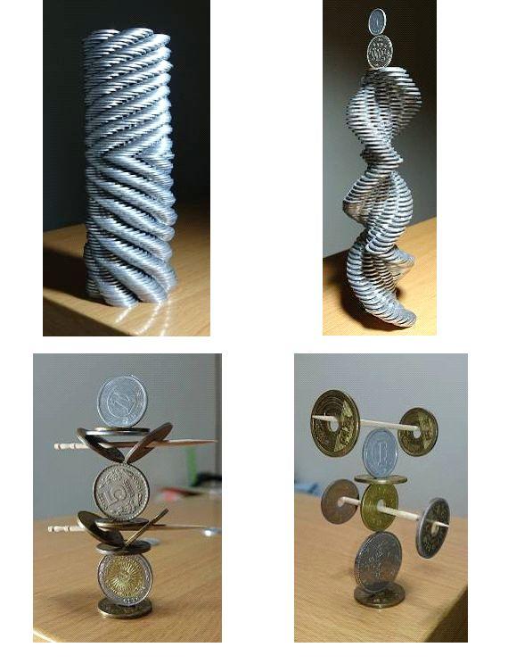Γλυπτά με νομίσματα