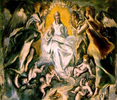 El Greco, η βάπτιση του Χριστού(1597-1600)