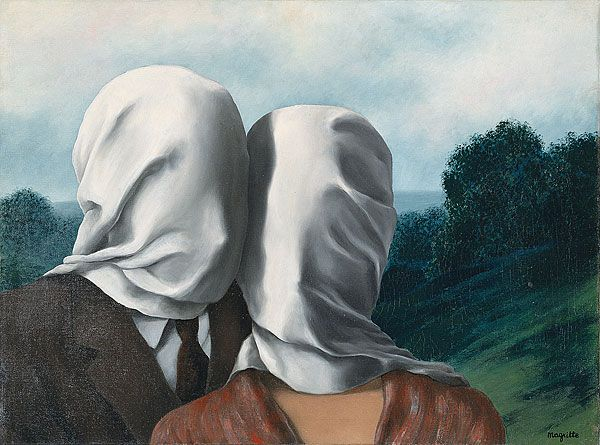 Rene Magritte, Οι Εραστές (1928)