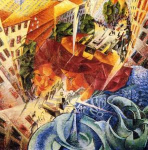Ταυτόχρονη Όραση του Umberto Boccioni