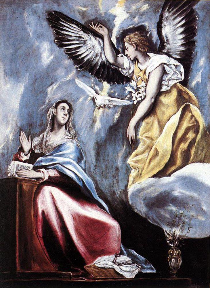 Ελ Γκρέκο, Ο Ευαγγελισμός (1595-1600) Museum of Fine Arts Βουδαπέστη