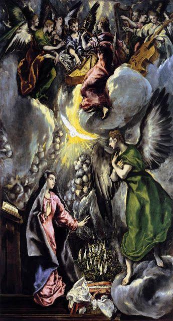 Ελ Γκρέκο, Ο Ευαγγελισμός (1596-1600) Μουσείο Πράδο Μαδριτη