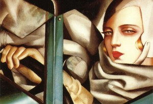 "Tamara de Lempicka ""Αυτοπροσωπογραφία στην πράσινη Bugatti"""