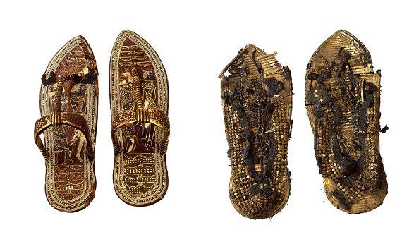 Δερμάτινα σανδάλια με χρυσοτυπίες