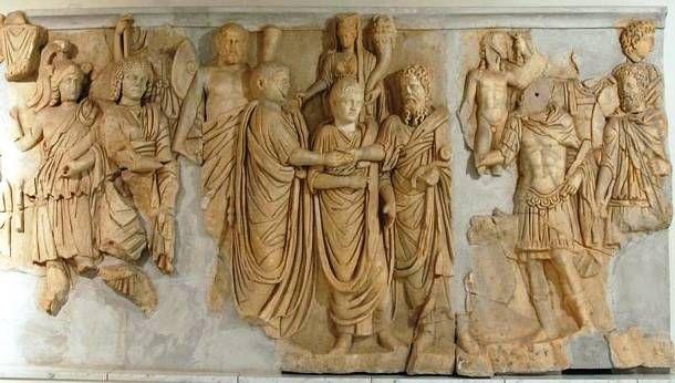 Σεπτίμιος Σεβήρος με τους γιούς του Γέτα και Καρακάλα