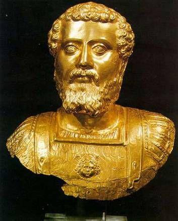 Χρυσή προτομή του Σεπτίμιου Σεβήρου, Πλωτινόπολη,