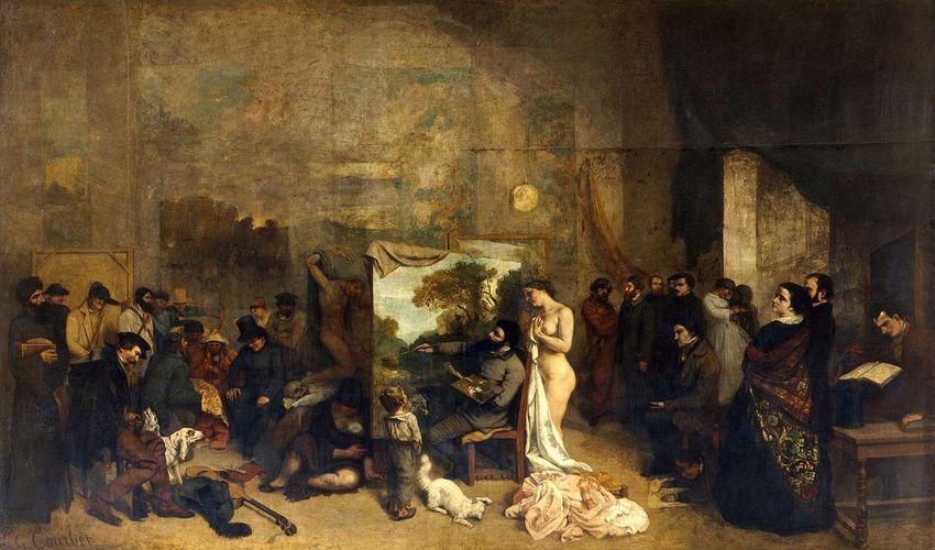 Courbet Atelier 1854