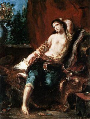Delacroix Odalisque 1857