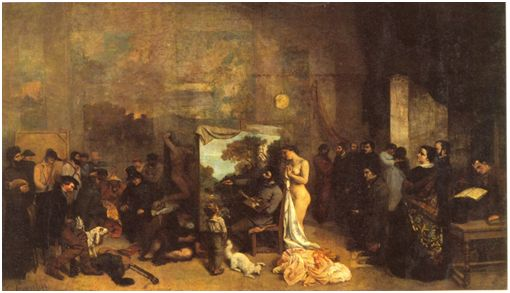 G. Courbet Το εργαστήριο του Ζωγράφου