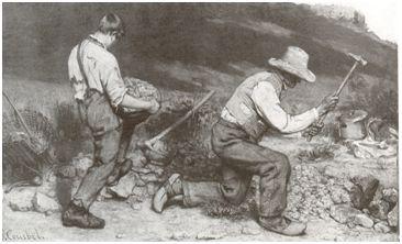 G.Courbet Εργάτες που σπάζουν πέτρες