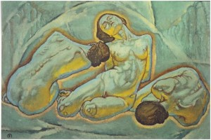 Koloman Moser, Τρεις ζαρωμένες γυναίκες (Drei kauernde Frauen) (1914)