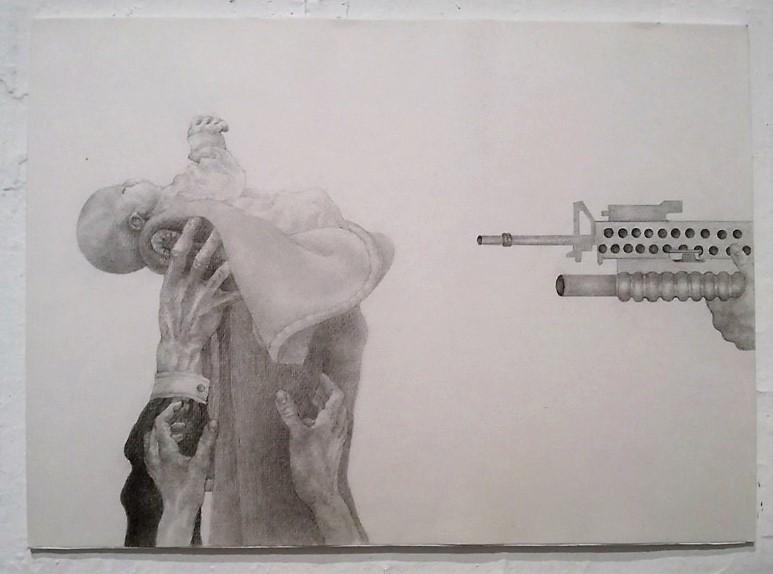 Χαρά Πιπερίδου, Objection to Dictation, 200x150 εκ., μολύβι σε χαρτί