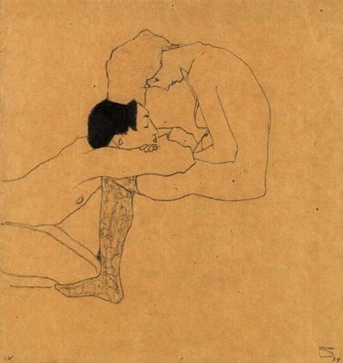 Egon Schiele εραστές lovers