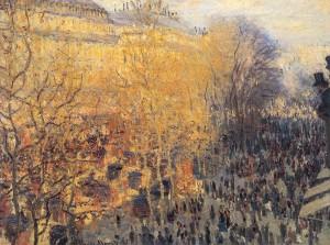 "Claude Monet ""Η λεωφόρος των Καπουτσίνων"""