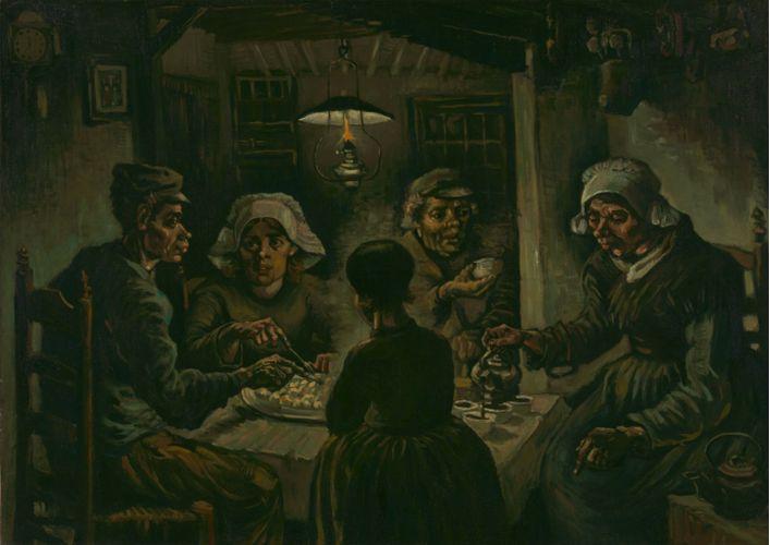 Οι πατατοφάγοι (1885) Βίνσεντ βαν Γκογκ (Vincent van Gogh)